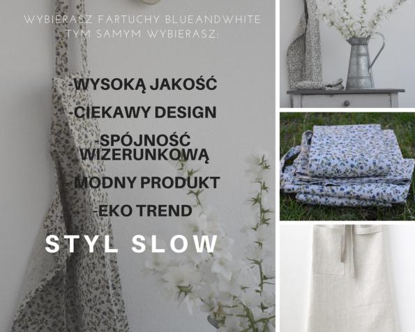 sklep internetowy blue and white, tekstylia kuchenne, aranżacja kuchni, fartuchy lniane, ścierki, obrusy, fartuchy do kwiaciarni, lniane do kwiaciarn