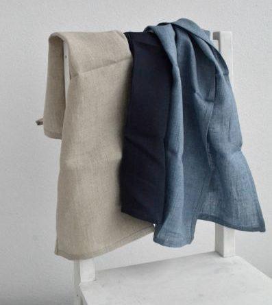 Tekstylia kuchenne blue and white dla domu