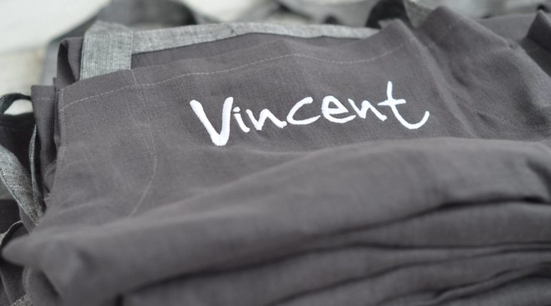 Portfolio – fartuchy lniane dla Vincent Boulangerie Patisserie