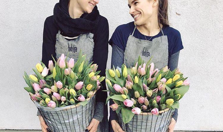 Portfolio – fartuchy lniane dla kwiaciarń Łodyga